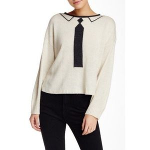 Wildfox tie dinner party high low sweater XS NWT